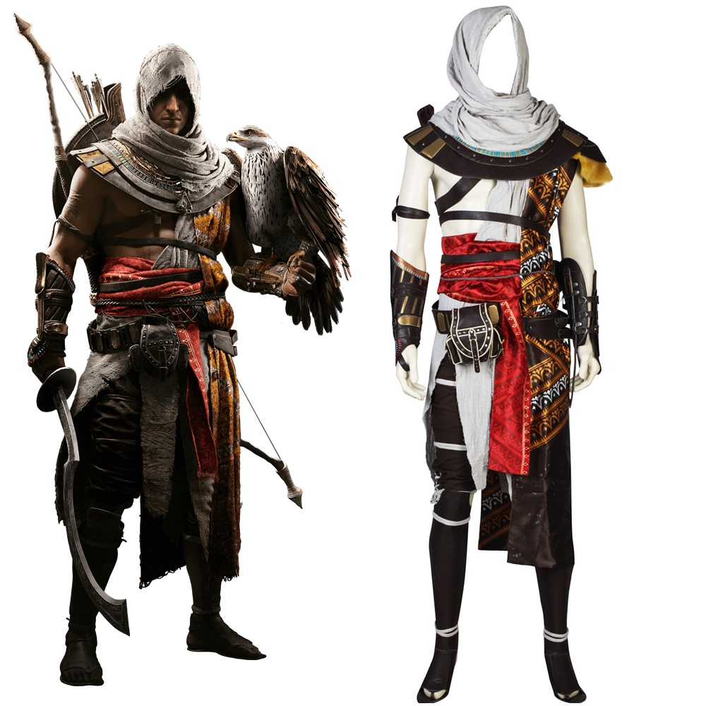 AC Origins ACO Bayek Cosplay Costume Men's Halloween Hunter Outfit
