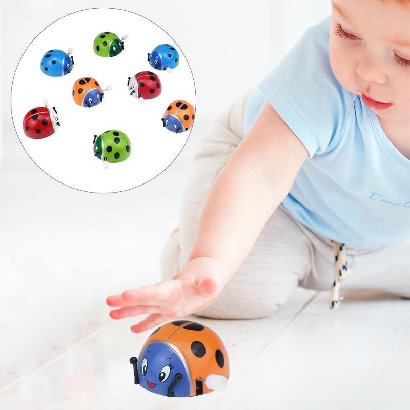 Classic Toys Ladybug Wind-up Toy For Kids Somersault Rotatable Ladybug Chain Clockwork Wind-up Toy Child Educational Toys