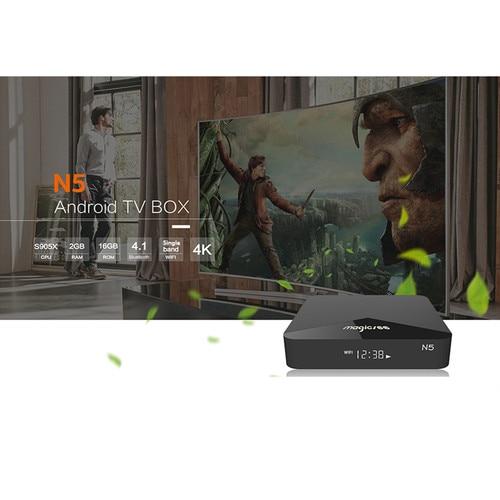 MAGICSEE N5 Smart TV Box Android 7.1.2 Amlogic S905X Mali 450 2GB 16GB Set Top Box 2.4G Wifi 4K H.265 Bluetooth 4.1 Media Player Lahore