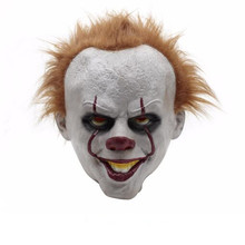 Horror Clown Mask Scary Killer Halloween Terror Joker Movie Payday Full Face Latex