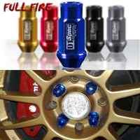 D1 Spec JDM Racing Aluminium legierung Rad Lug Muttern Schraube M12x1.5/1,25 Länge 50mm/40mm für 95% autos 20 teile/los