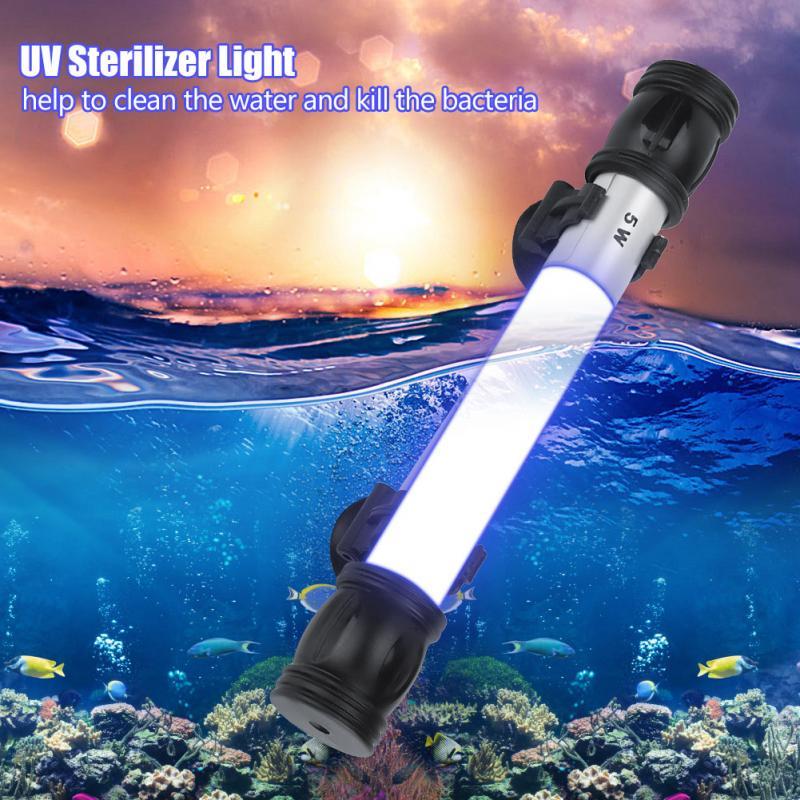 2019 New Style Submersible Uv Light Sterilizer Waterproof Pool Light Algae Lamp Fishing Light For Aquarium Fish Tank Underwater Light Hot Sale Led Lamps