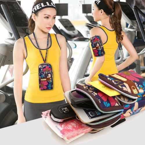 2019 新ポーチ女性財布財布メッセンジャー女性カジュアル花柄ランニングトレーニングケースベルトショルダー電話防水バッグミニバッグ