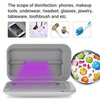 Double Antibacteria UV Light Disinfection Toothbrush For Phone MP3 Sterilizer USB Charging Sterilizer Cleaner Cosmetic Brush Box