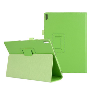 Image 1 - 100 יח\חבילה באיכות טובה מתקפל סטנד PU מקרה עבור Lenovo Tab E10 X104 TB X104 Flip כיסוי