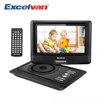 10.1 inch Portable DVD Player TFT LCD Screen Multimedia DVD Player Build in 5000mAh Battery 5H Play Time Support AV Max 32G USB