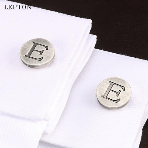 Запонки lepton мужские классические буквы алфавита e с античным