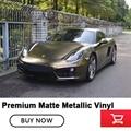 Высококлассная матовая жемчужный металлик металлическая Бонд Золотая виниловая оберточная пленка с воздушными каналами клей на базе раст...