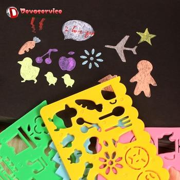 4 Piezas Bonitos Símbolos Gráficos Arte Corea Papelería Color