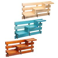 New 3 Colors Bedroom Wall Shelves Original Wood Chic Rack Storage Organization Home Decor Retro Style Storage Holders Handmade