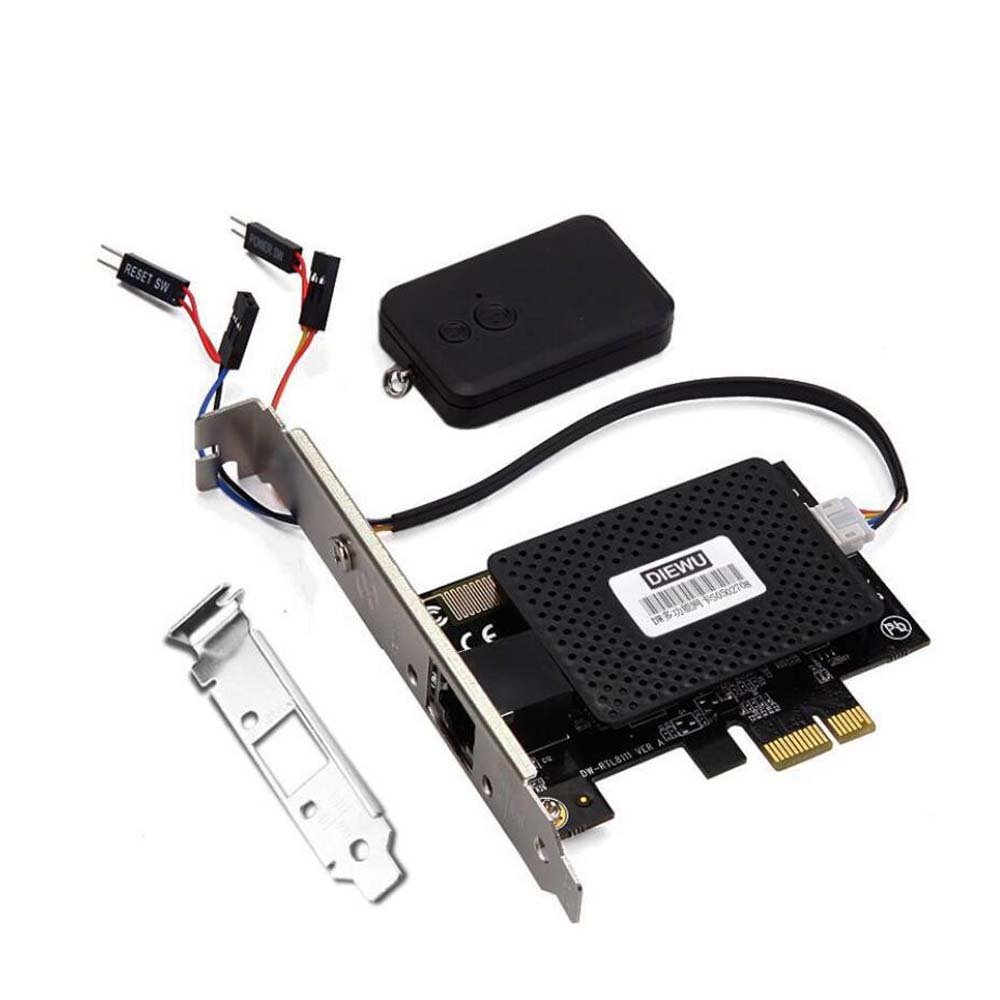 Multifunctional 2 in 1 PCIE PCI Express Gigabit Network card + remote control switch card computer desktop switch