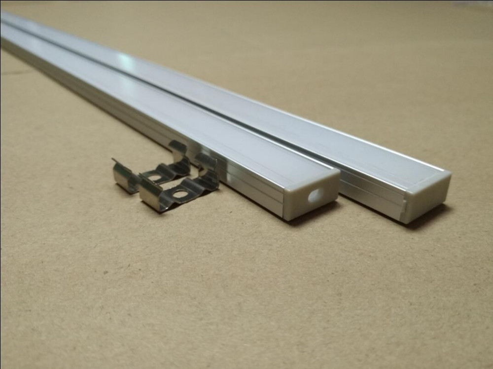Free Shipping 2M long LED aluminum profile(anodized silver color) with PC cover;for 12mm wide flexible or hard LED strips