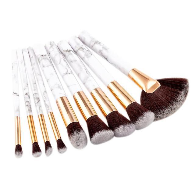 9 piezas Professnial maquillaje cepillos de Nylon suave Fundación de polvo de contorno rubor corrector mezcla cepillos cosméticos Kit de herramienta