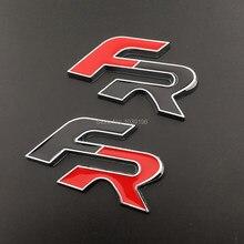 3D FR автомобильный багажный значок из цинкового сплава, эмблема для заднего кузова автомобиля, аксессуары для багажника, клейкий Стайлинг, н...