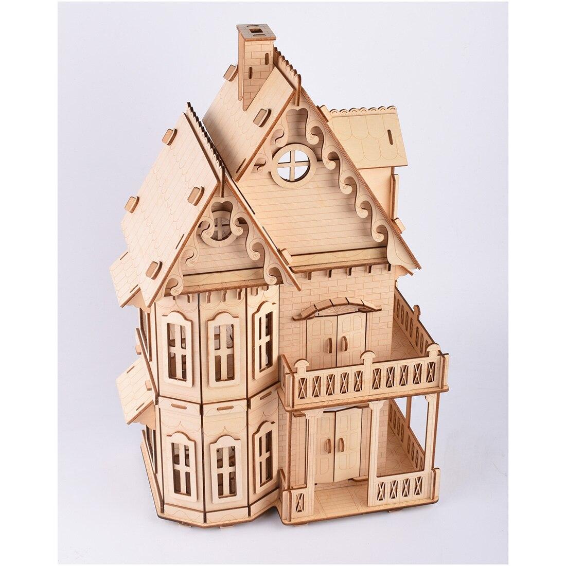 Puzzle de découpe Laser haute précision assemblage 3D modèle de Puzzle en bois-maison gothique pour 14 ans