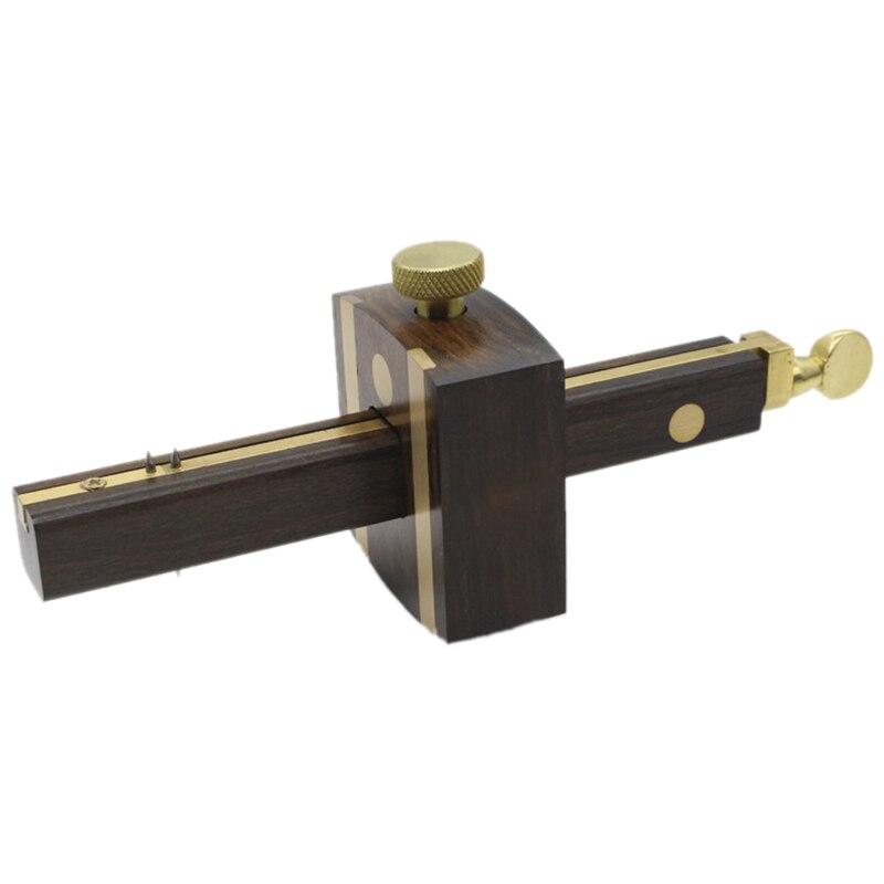 8 Inch/20Cm Ebony Deluxe British Marking Gauge Wood Scribe Mortise Gauge With Screw Woodworking Measuring Tool