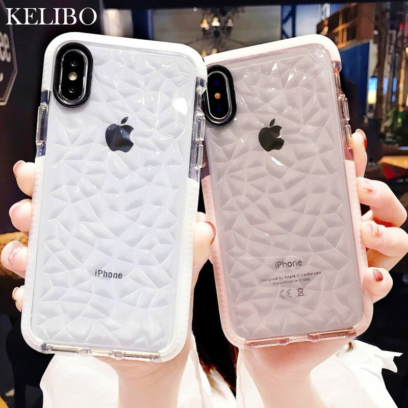 Luxury Jelly Phone Case For iPhone X XR XS Max Soft TPU Transparent Case Shockproof Clear Cover For iPhone 7 8 6 6s Plus Cases iPhone