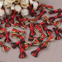 100 шт. красивый галстук-бабочка атласная лента для подарка Свадебная Упаковка рождественские украшения Швейные аксессуары ручной работы ленты