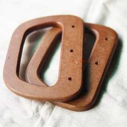 Новый D форме круглое отверстие кофе дерево ручки с винтами 12,3*8,6 см 2 шт деревянные Obag ручка мода деревянные ручки для сумок