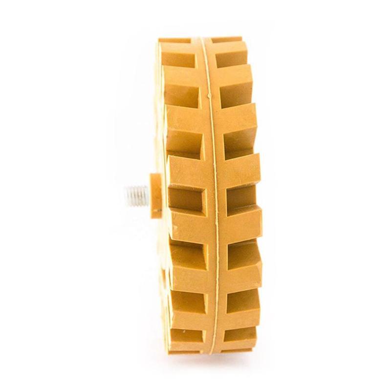 Pinstripe Decal Eraser Wheel Rubber 5/16-24 Teeth Decal Eraser Wheel Pad Rubber Disk Pneumatic Car Sticker Remover Tools