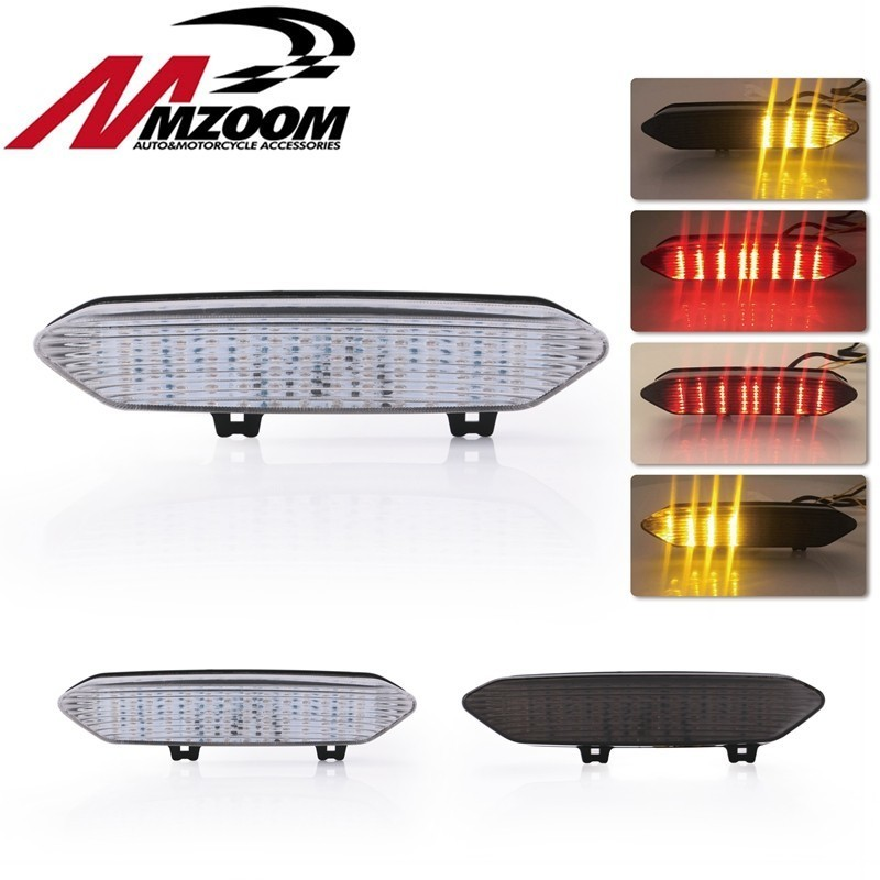 Motorcycle Rear Taillight Tail Brake Turn Signals Blinker Indicator Integrated Led Smoke Light For YAMAHA YZF R1 YZFR1 2002 2003