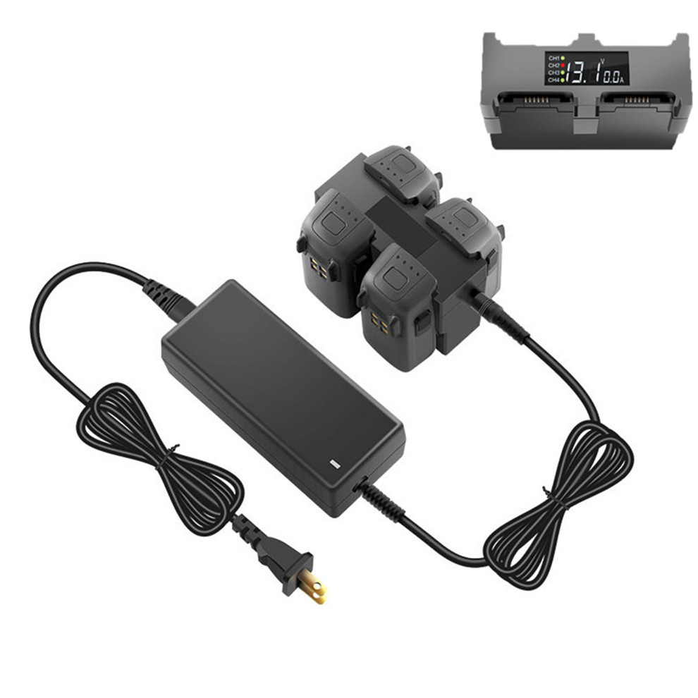 4in1 Battery Charger Hub RC Intelligent Quick Display Charging For DJI SPARK
