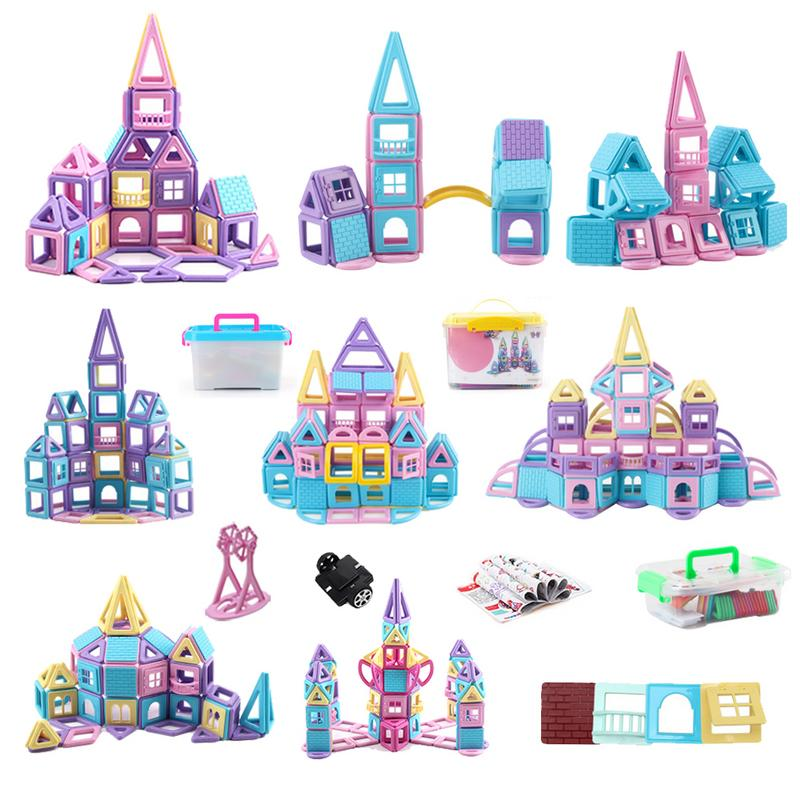 Children Creative Magnetic Piece Building Blocks Toy Set Changeable Pulling Magnetic Piece Children's Educational Toys