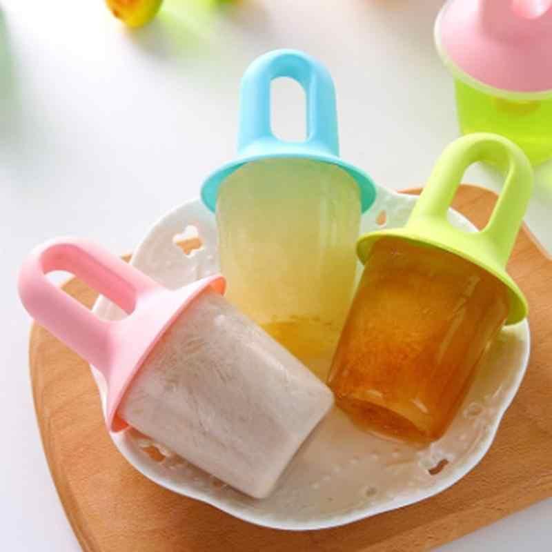 Molde para hacer recipientes de hielo congelados DIY, molde para Polos de helado para niños, utensilios de cocina para helados