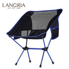 LANGRIA Портативный Сверхлегкий сверхмощный алюминиевый сплав складной стул с сумкой для хранения для пикника на открытом воздухе кемпинга