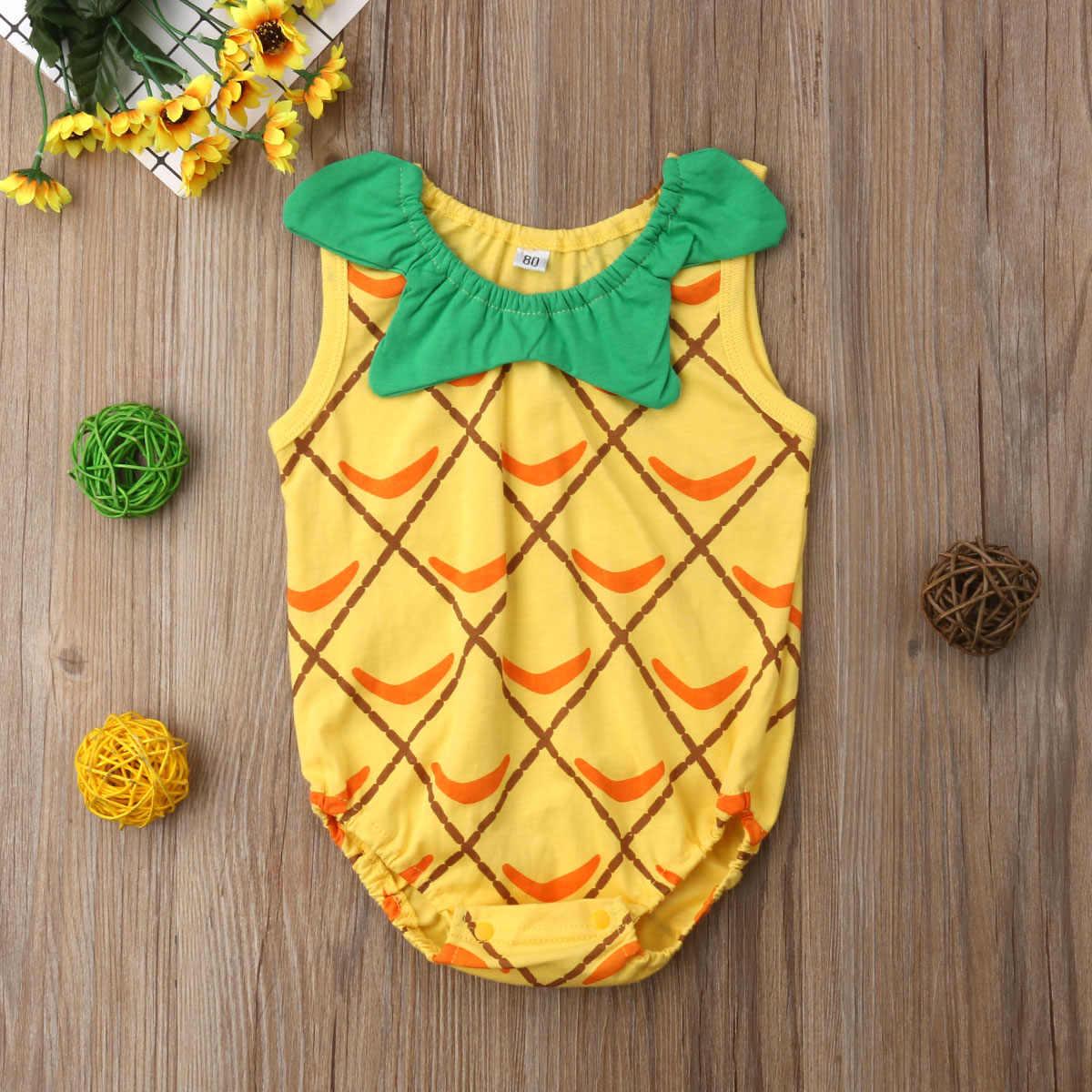 Pasgeboren Baby Jongen Meisje Ananas Penguin Romper Jumpsuit Baby Cartoon Outfit Prinses Peuter Meisjes Jongen Zomer Kleding 0-18 m