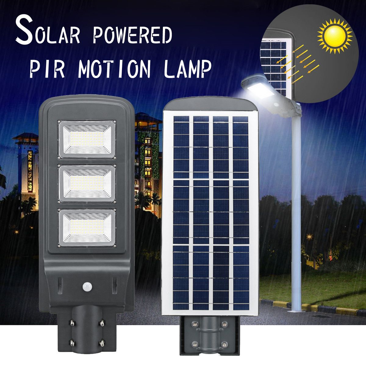 All-in-one 60W Solar Powered Lamp Solar Panel Lighting Light Control + PIR Motion Sensor Waterproof for Outdoor Street LightAll-in-one 60W Solar Powered Lamp Solar Panel Lighting Light Control + PIR Motion Sensor Waterproof for Outdoor Street Light