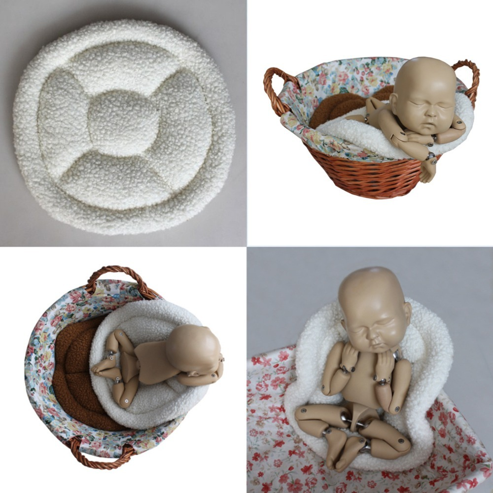 Newborn Photography Props Accessories Bucket Basket Stuffer Filler Baby Posing Cusion Baby Photo Prop Newborn Photoshoot Blanket