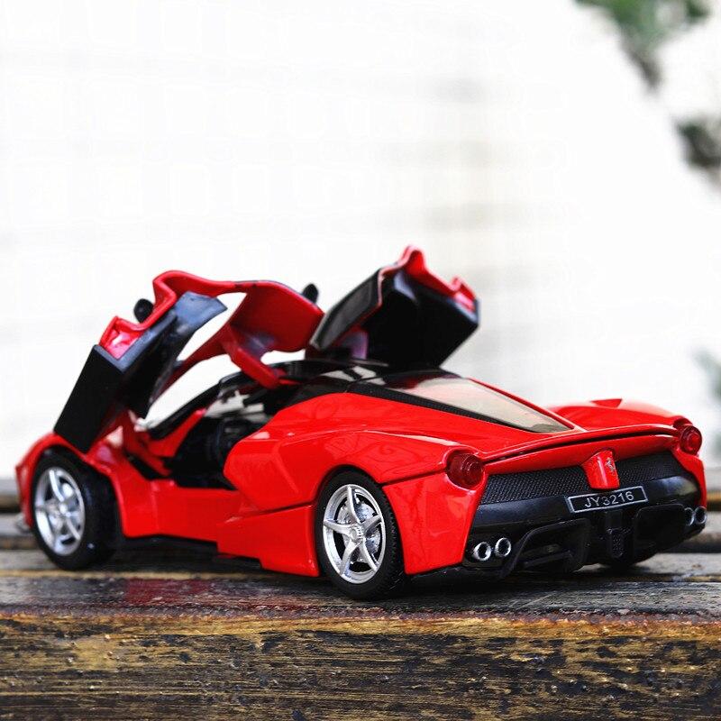 Genießen Kindheit Ferrari Skala 1:32 Legierung Sport Auto Modell Diecast Sound Licht Ziehen Tür Spielzeug Für Kinder Heißer Spielzeug auto