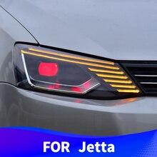 Фара в сборе для Volkswagen Jetta 2012- разблокирует сенсорный синий светодиодный дневные ходовые огни devil eyes