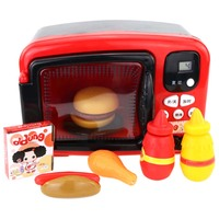 Children L Simulated Microwave Oven Pretend Play Kitchen Toy Educational Playset food Heats Up Hamburger Early Education Gift