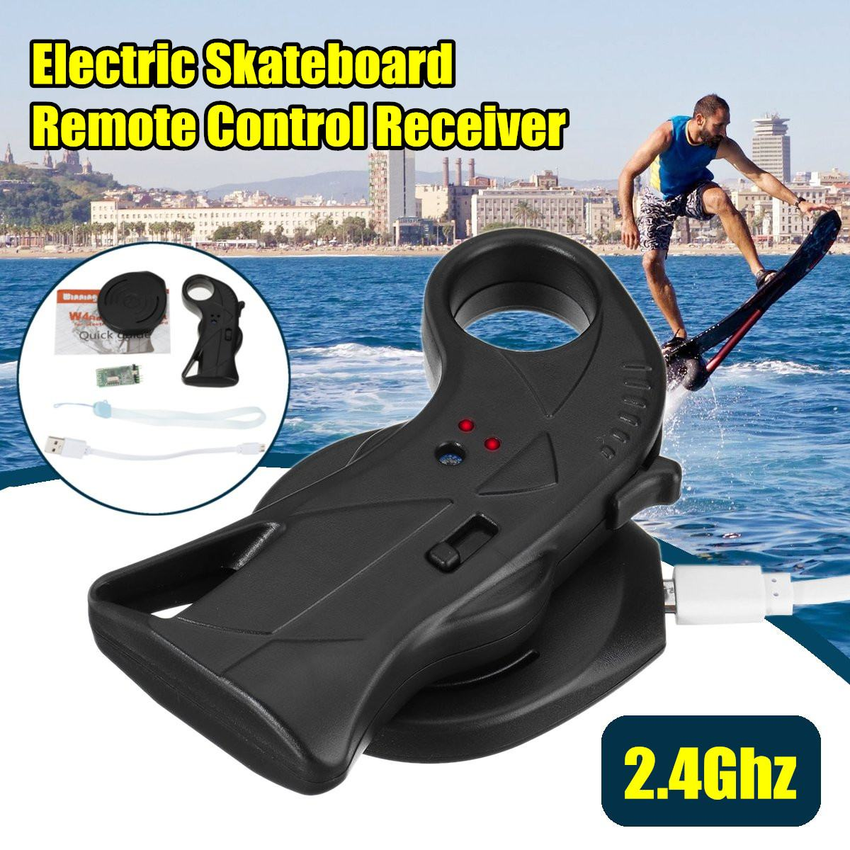 2.4 2.4ghz の電気スケートボードリモコン受信機とユニバーサルのためのロングボードスケートボードスクーター防水  グループ上の スポーツ & エンターテイメント からの スケートボード の中 1