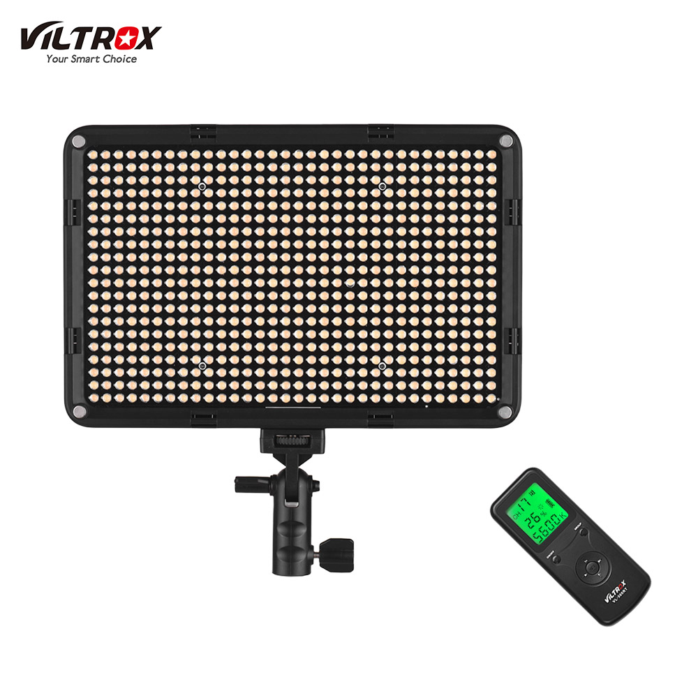 Viltrox VL D640T Ultra thin Bi color LED Video Light 3300K 5600K CRI 95 w Remote