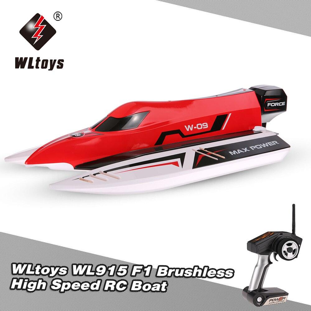 Oyuncaklar ve Hobi Ürünleri'ten RC Tekneler'de Orijinal WLtoys WL915 2.4 Ghz 2CH Fırçasız Yüksek Hızlı RC F1 Yarışı Tekne Fırçasız RC Tekne Hediyeler'da  Grup 1