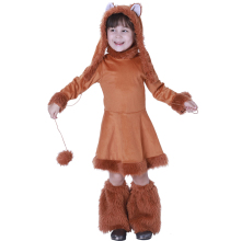 Fox Costume Girl Animal Kids Cosplay Costume Halloween Costume For Kids Carnival Party Performance Clothing цена 2017
