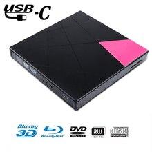 External Blu ray DVD Optical Drive USB 3.0 Ultra Slim 3D 4K Player Writer BD/CD/DVD Burner For Mac OS/Windows