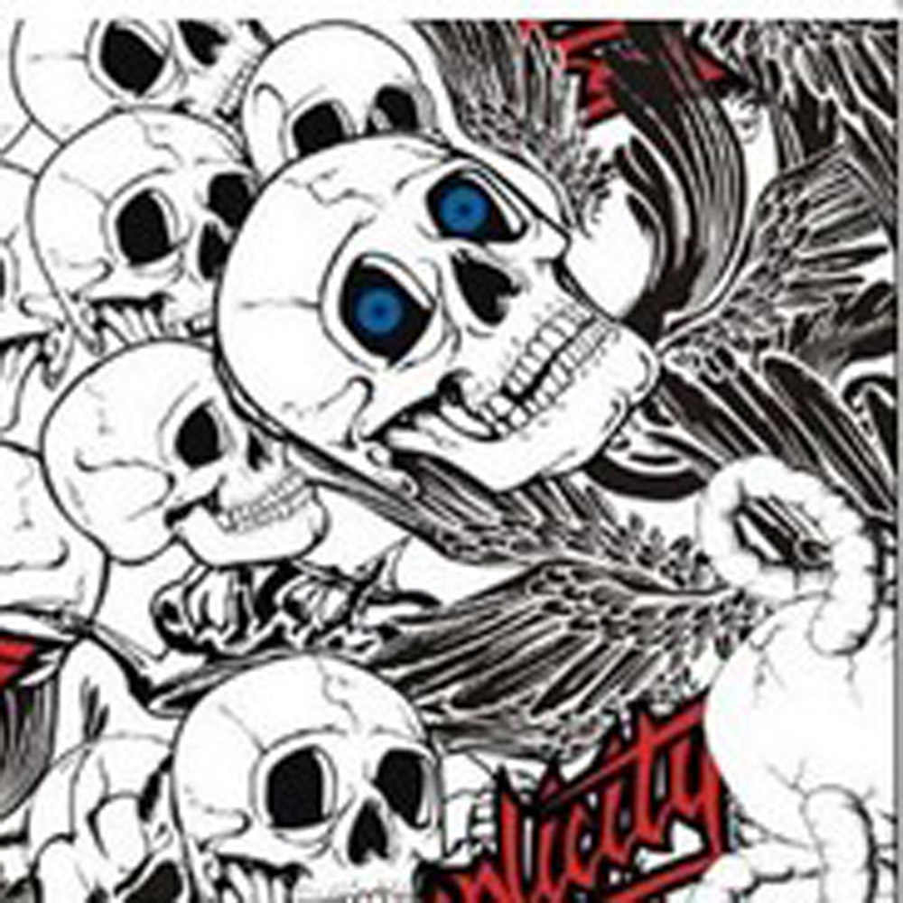 Blackwhite Skull Cartoon Graffiti Car Sticker Bomb Wrap Decal Vinyl