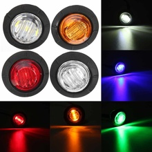 """5 цветов, 12 В, """", универсальный автомобильный прицеп, маленький круглый светодиодный фонарь, боковые габаритные огни, сигнальная лампа, водонепроницаемая"""