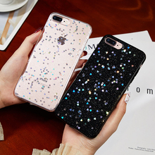 Luxury Gold Foil Bling Phone Case For iPhone X XS Max XR Soft TPU Back Cover 7 8 6 6s Plus Glitter Coque Funda