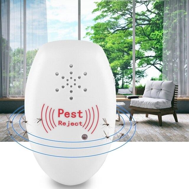 Ultrasónico repelente de plagas de Potable Anti mosquitos ultrasónico insecto repelente de plagas máquina repelente de ratón de la batería incorporada