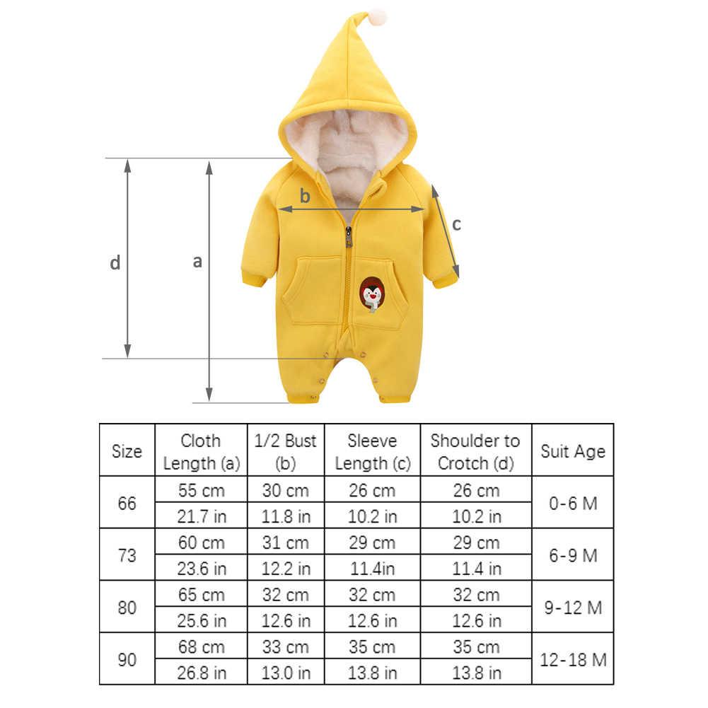 ทารกเสื้อผ้าเด็กทารก romper ฤดูหนาว hoody เด็กคริสต์มาสชุด zipper กับหมวกขนแกะ jumpsuit เด็ก onesies