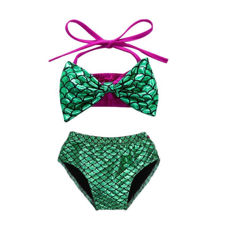 2747a477fe918 ... 2019 Kid Children mermaid swimsuit Big Bow Two-Piece Suits set sexy  Baby Girl swimwear