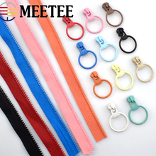 10Yards 3# Meetee Open-End Resin Zipper Unilateral Slider Pull DIY Tailor Garment Bags Hand Sewing Crafts Tools Accessory