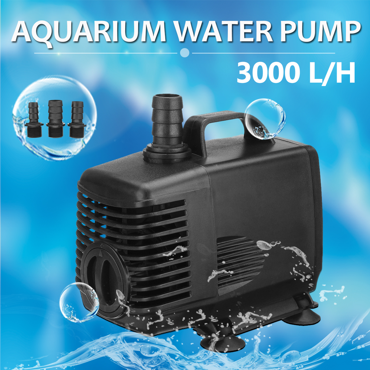 45W 3000 L/H 220-240V Aquarium Water Pump for Fish Tank Pond Submersible Fountain Water Pump Filter+ 3 Nozzles все цены
