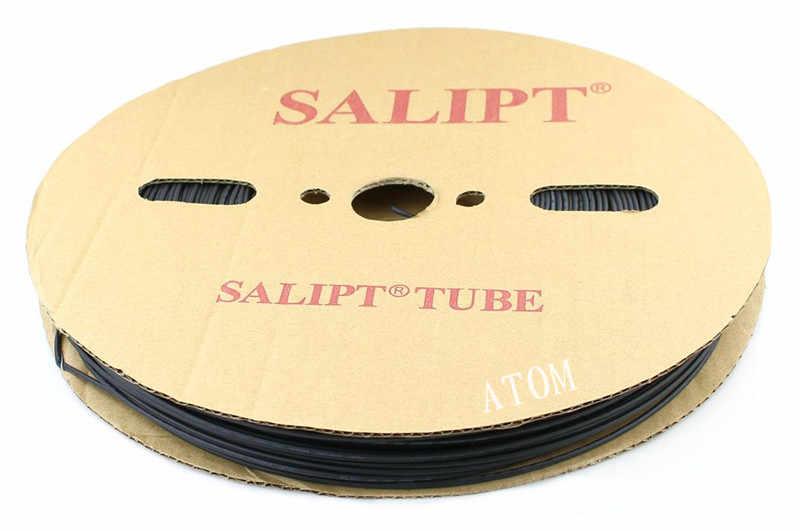 4mm diamètre intérieur 5 m thermorétractable isolation gaine thermorétractable 600 tension 125 Celsius Tube noir câble enroulé Kit