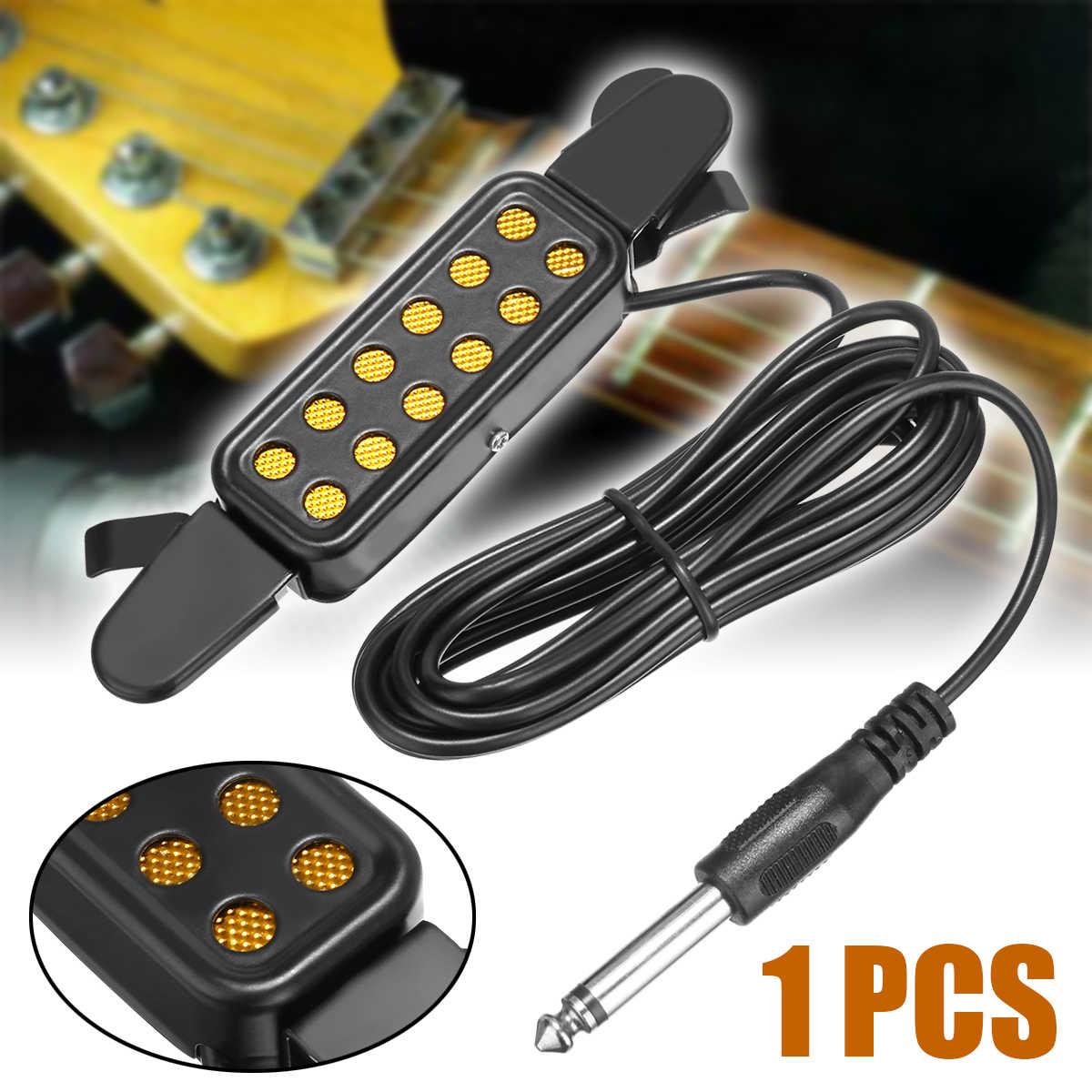 Mayitr 12 отверстий гитары Звук Пикап микрофон усилители домашние динамик акустическая гитары пикап с контроллером аудио кабель